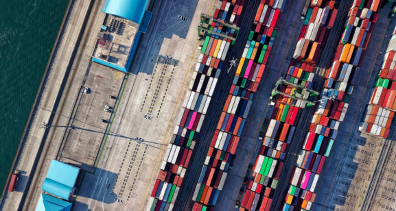 Aerial View Black Sea Ports